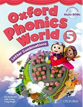 کتاب زبان Oxford Phonics World 5 SB+WB+CD