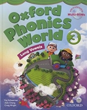 کتاب زبان Oxford Phonics World 3 SB+WB+CD