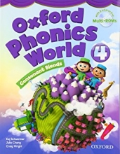 کتاب زبان Oxford Phonics World 4 SB+WB+CD