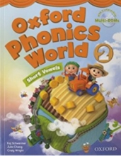کتاب زبان Oxford Phonics World 2 SB+WB+CD