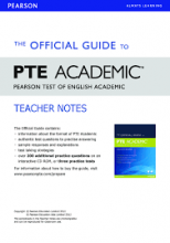 کتاب زبان The Official Guide to PTE Academic - Teacher Notes