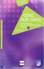 کتاب زبان CINQ SUR CINQ, NIVEAU A2 (CD INCLUS)