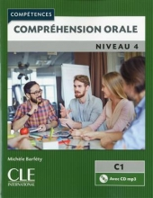 کتاب زبان Comprehension orale 4 - Niveau C1 + CD - 2eme edition