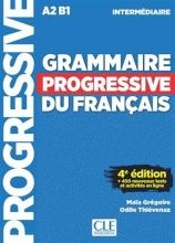کتاب Grammaire Progressive Du Francais A2 B1 - Intermediaire - 4ed +Corriges+CD