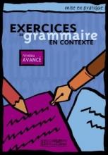 کتاب زبان exercises du grammaire en contexte - Avance