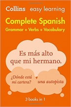کتاب زبان (Complete Spanish Grammar Verbs Vocabulary: 3 Books in 1 (Collins Easy Learning