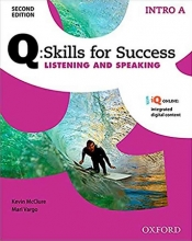 کتاب زبان Q Skills for Success Intro Listening and Speaking 2nd+CD