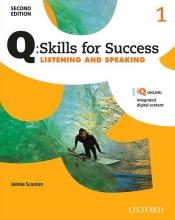 کتاب زبان کیو اسکیلز فور ساکسس  Q Skills for Success 1 Listening and Speaking 2nd+CD