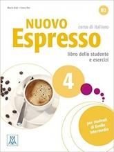 کتاب ایتالیایی اسپرسو Nuovo Espresso 4 (Italian Edition): Libro Studente B2+DVD