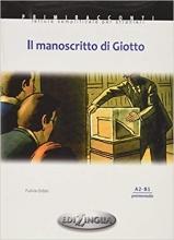 کتاب زبان داستان ایتالیایی Il Manoscritto DI Giotto +cd